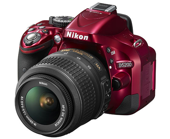 Nikon-D5200-DSLR-in-red